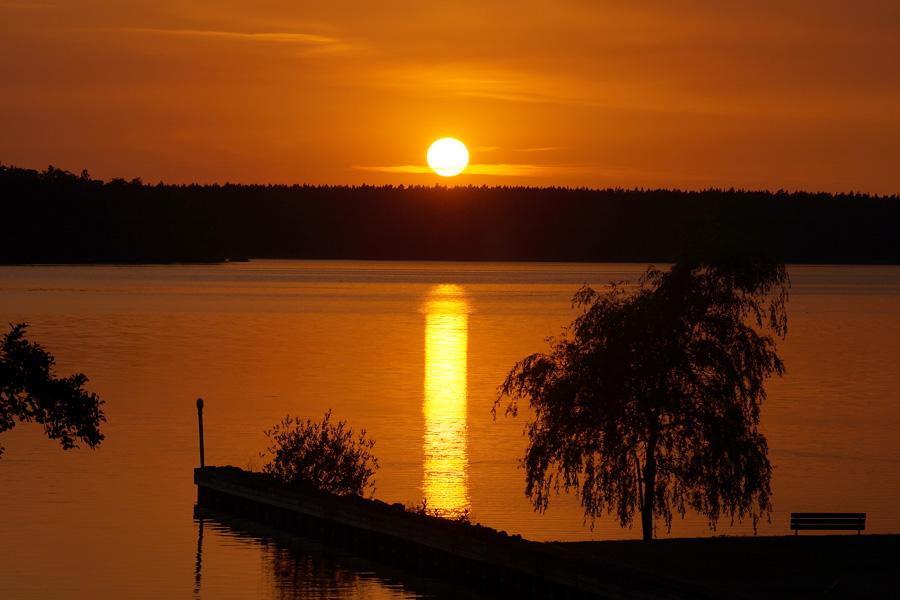 Sonnenuntergang Rheinsberger See