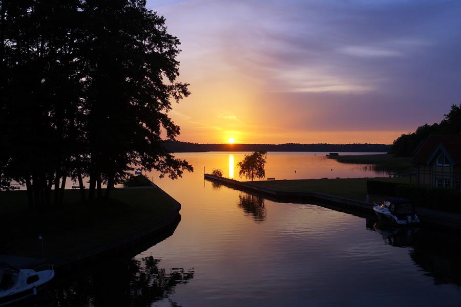 Sonnenuntergang Hafeneinfahrt