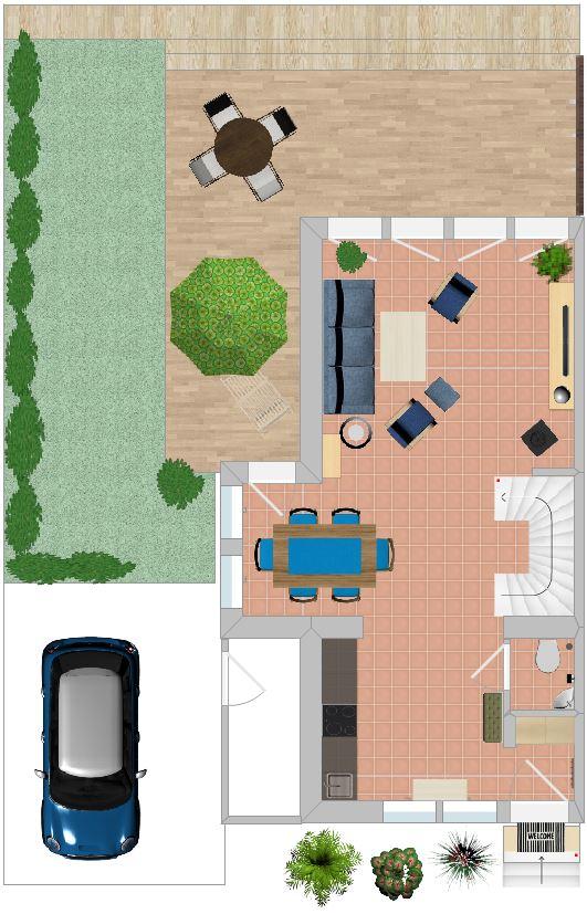 Grundriss Ferienhaus S16