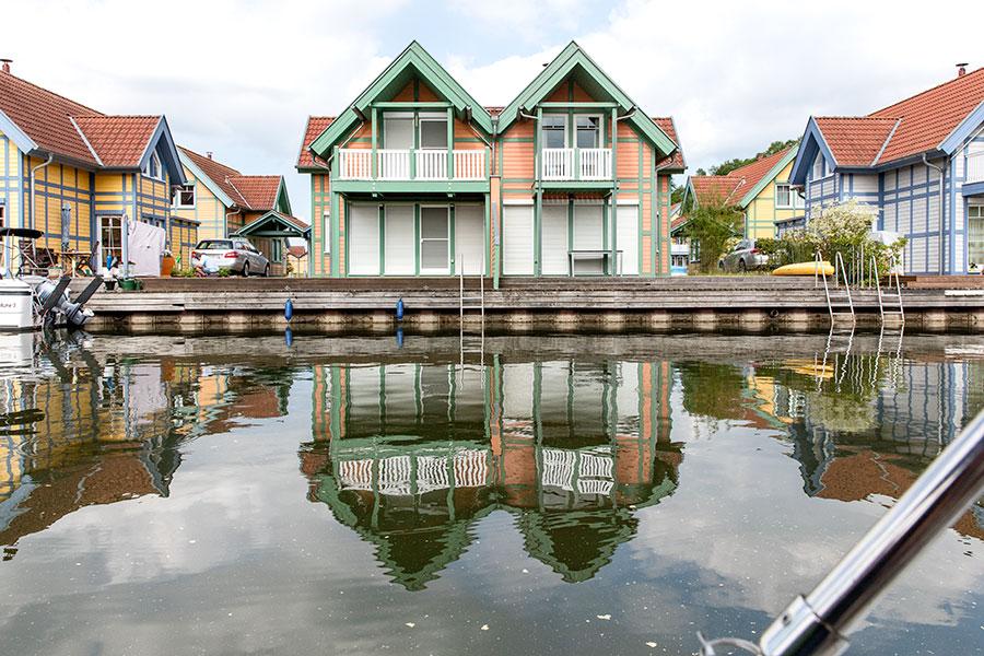 Doppelhaus auf der S-Insel, Haus S8 rechts im Bild