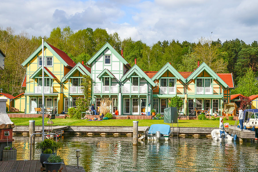 Beispiele Haustypen im Hafendorf Rheinsberg